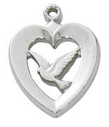 communion religious gifts dove heart