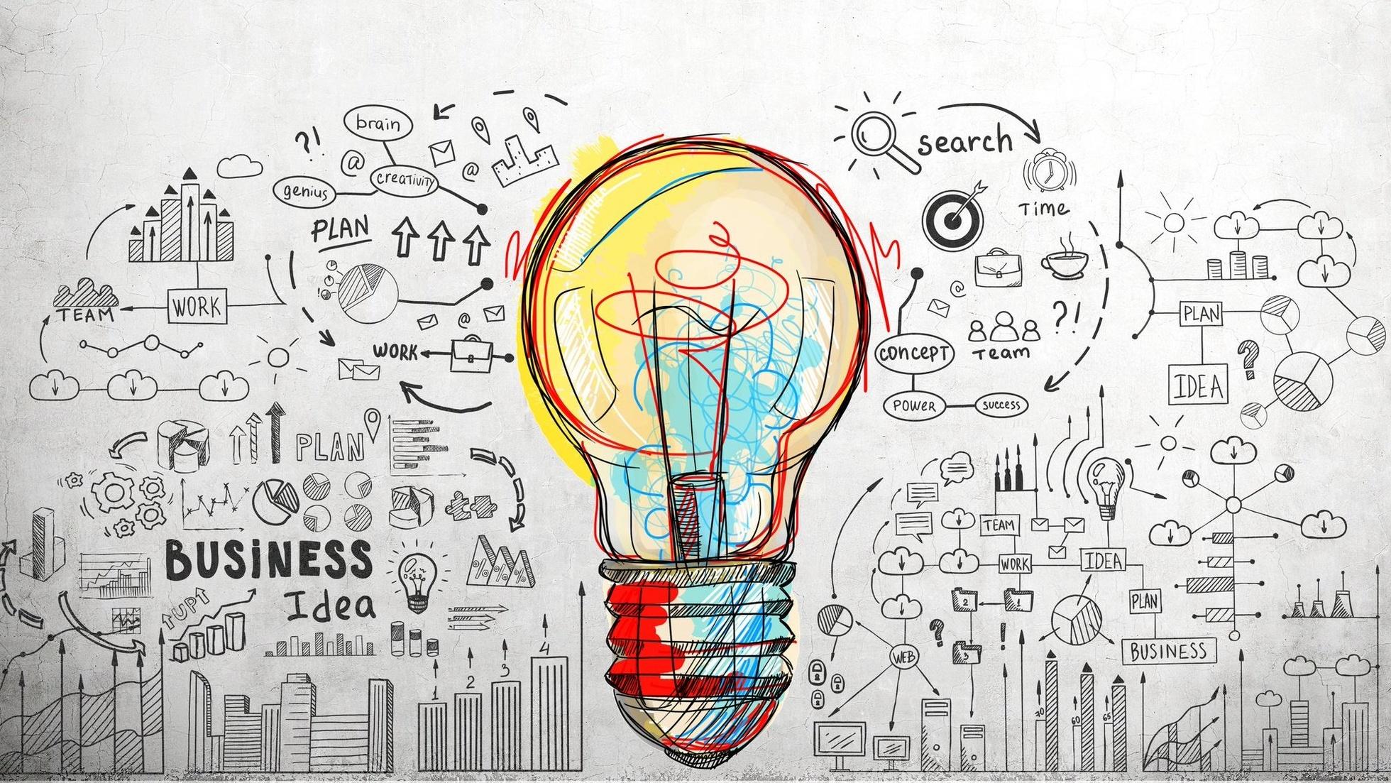 revolutionary business idea lightbulb