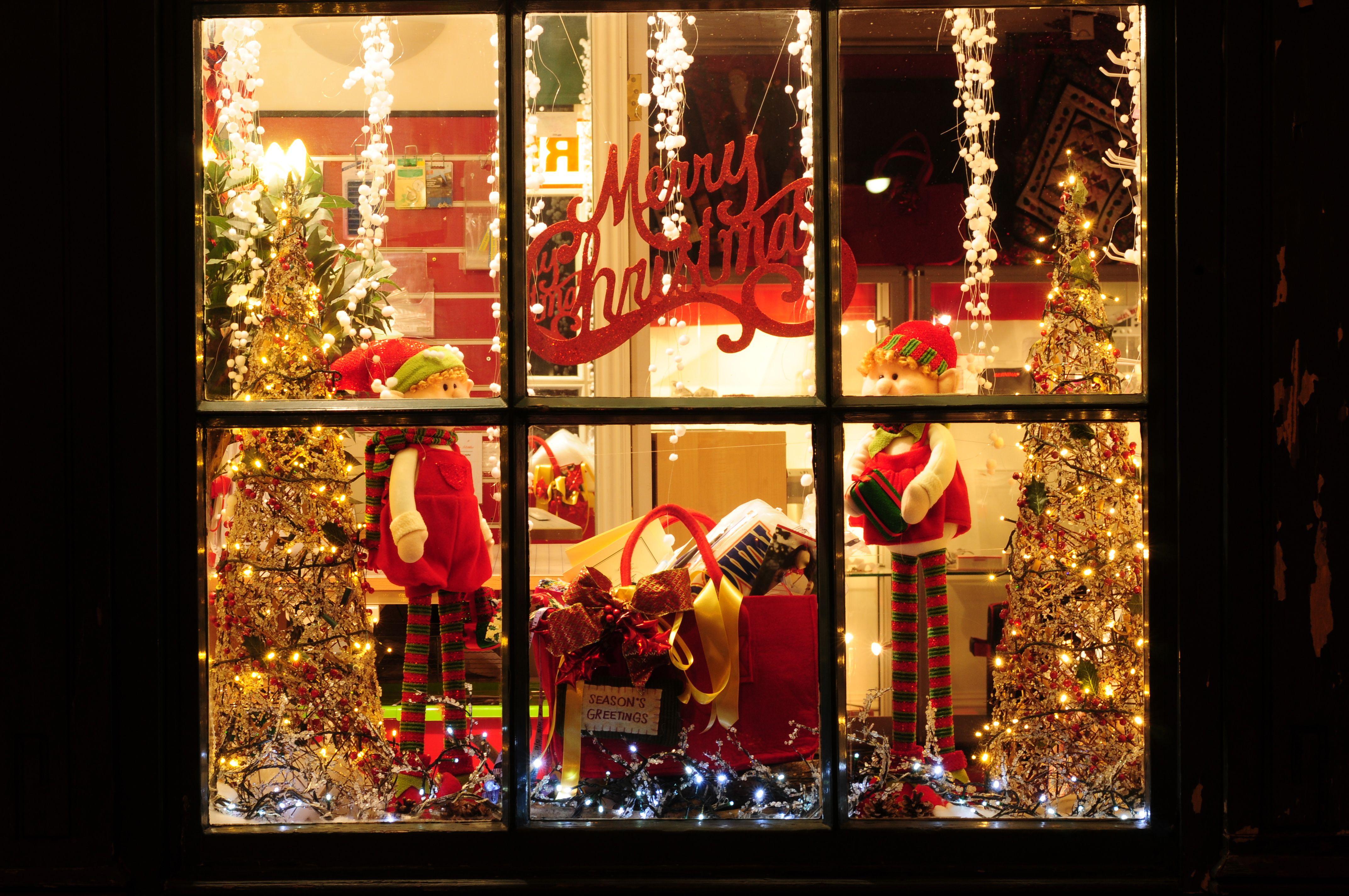 christmas marketing storefront